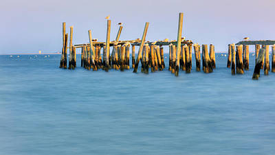 The Photograph - Old Pier by Bill Wakeley