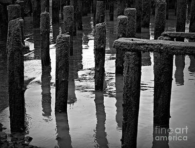 Photograph - Old Pier Bw 2 by Chalet Roome-Rigdon