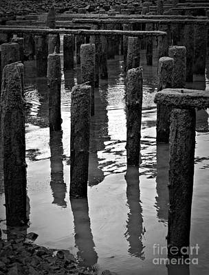 Photograph - Old Pier Bw 3 by Chalet Roome-Rigdon
