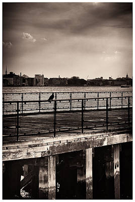 Photograph - Old Pier On The Old River Of London Town by Lenny Carter