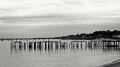 Photograph - Old Pier Provincetown 2012 B And W by Frank Winters