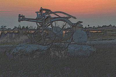 Photograph - Old Plow In After Glow by Richard Zentner