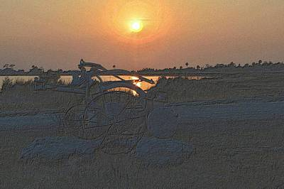 Photograph - Old Plow Sunset by Richard Zentner