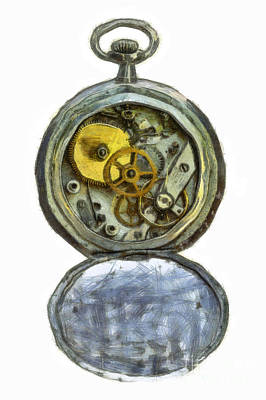 Old Pocket Watch Art Print by Michal Boubin