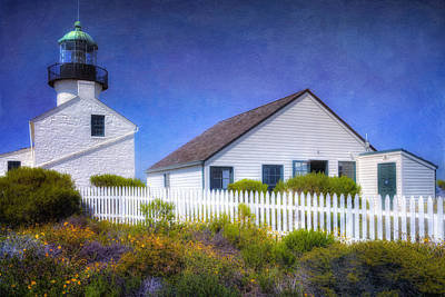 Old Point Loma Lighthouse Original by Joan Carroll