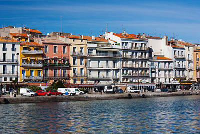 Old Port Waterfront With Buildings Art Print by Panoramic Images