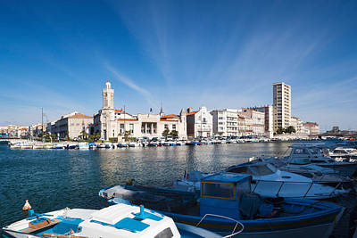Sete Photograph - Old Port With City At The Waterfront by Panoramic Images