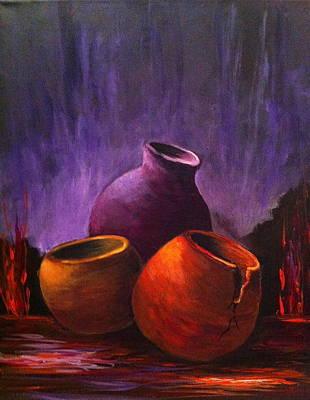 Painting - Old Pots 2 by Bozena Zajaczkowska