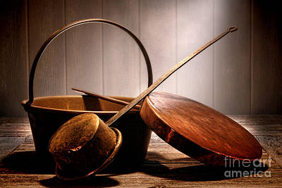 Old Pots And Pans Art Print by Olivier Le Queinec