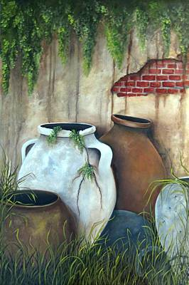 Painting - Old Pottery by Katia Aho