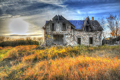 Photograph - Old Prairie Home Stead by Vaughn Bender