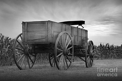Photograph - Old Prairie Wagon by E B Schmidt