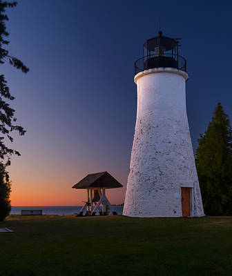 Old Presque Isle Lighthouse Art Print by Thomas Pettengill