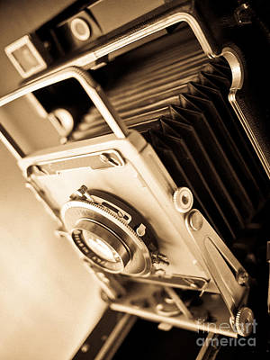 Old Press Camera Art Print by Edward Fielding