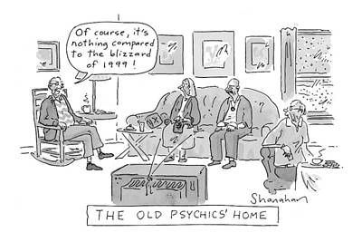 Old Psychics' Home Art Print by Danny Shanahan