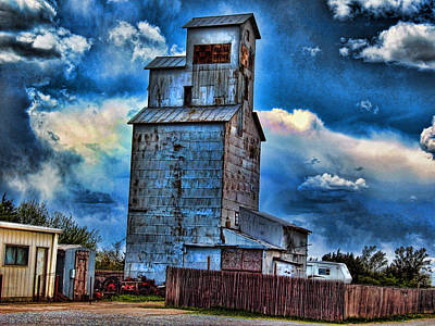 Photograph - Old Purina Cat Chow Silo In Nebraska by Tyler Robbins