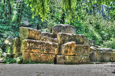Old Quarry Stones Art Print
