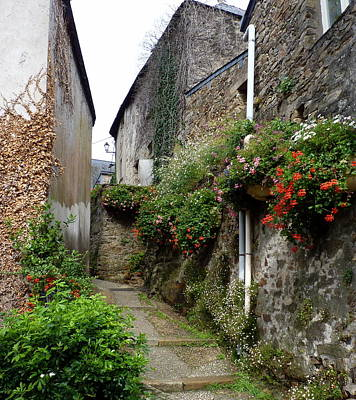 Weathered Photograph - Old Quarter Of La Roche Bernard by Carla Parris