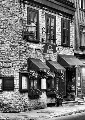 Photograph - Old Quebec City 16 Bw by Mel Steinhauer