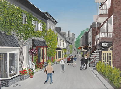 Wall Art - Painting - Old Quebec City Charm by Lisa MacDonald