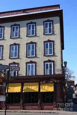 Historical Signs Photograph - Old Quebec by Sophie Vigneault