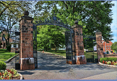 Movies Star Paintings - Old Queens Entrance Gate by Allen Beatty
