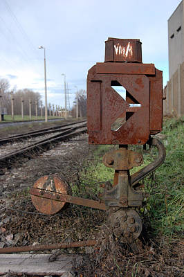Photograph - Old Rail Switch by Peter Kallai
