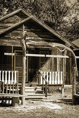 Photograph - Old Ranch Cabin In Antique Sepia 3008.01 by M K Miller