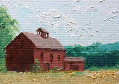 Painting - Old Red Barn by Alan Mager