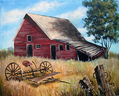 Painting - Old Red Barn by Carol Hart