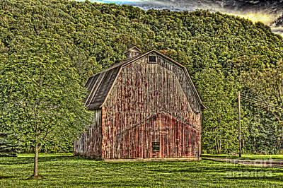 Art Print featuring the photograph Old Red Barn by Jim Lepard