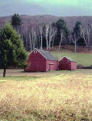 Photograph - Old Red Barn by John Scates