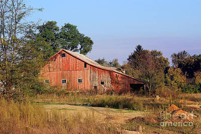 Photograph - Old Red Barn by Karen Adams