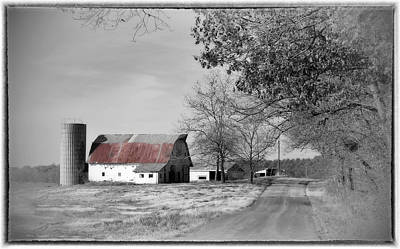 Photograph - Old Red Barn by Kathy Williams-Walkup