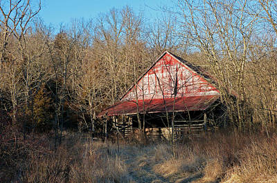 Photograph - Old Red Barn by Linda Shannon Morgan