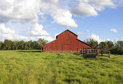Photograph - Old Red Barn by Mark Greenberg