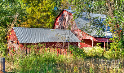 Photograph - Old Red Barn by Peggy Franz