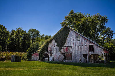 Photograph - Old Red Barn by Ron Pate