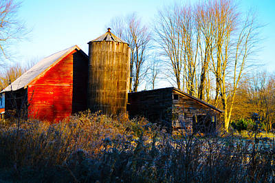 Farm Photograph - Old Red Barn by Timothy Thornton