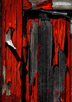 Photograph - Old Red Barn Two by Bob Orsillo