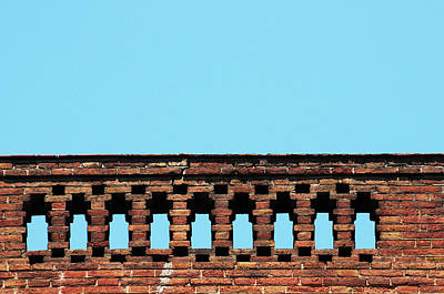 Balcony Photograph - Old Red Brick Balcony by Joelle Icard