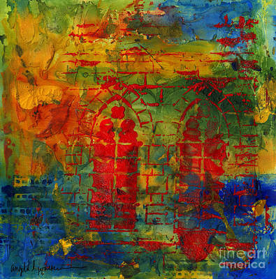 Mixed Media - Old Red Cathedral by Angela L Walker