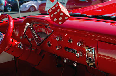 Photograph - Old Red Chevy Dash by Tikvah's Hope