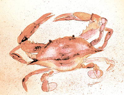 Painting - Old Red Crab  by Nancy Patterson