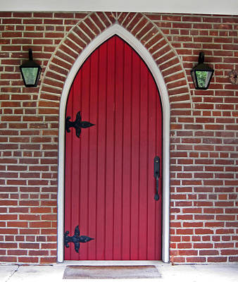 Photograph - Old Red Door Bullet Shaped by Valerie Garner