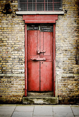 Photograph - Old Red Door by Heather Applegate
