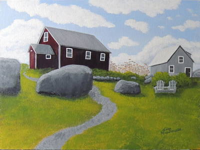 Wall Art - Painting - Old Red Schoolhouse by Lisa MacDonald