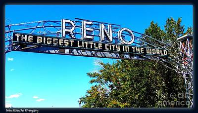 Photograph - Old Reno Arch Icon by Bobbee Rickard