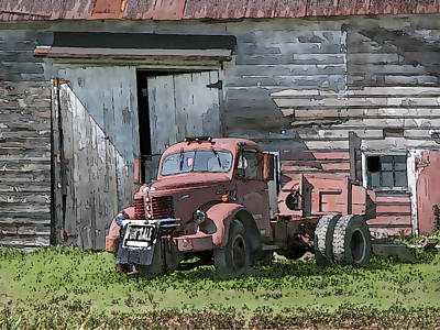 Design Turnpike Books Rights Managed Images - Old Reo Truck For Sale Royalty-Free Image by Ray Summers Photography