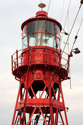 Photograph - Old Restored Lightship. by Jan Brons